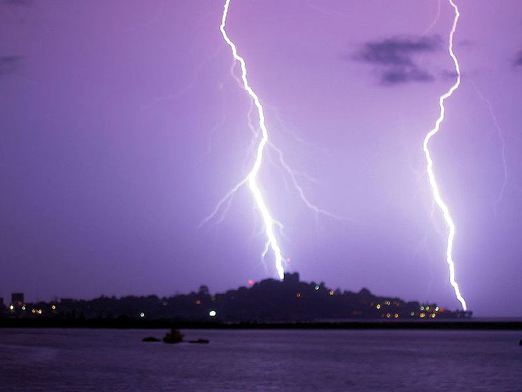 World Travel Photos :: Liberia - Monrovia :: Liberia West Africa. Lighting Strike Monrovia