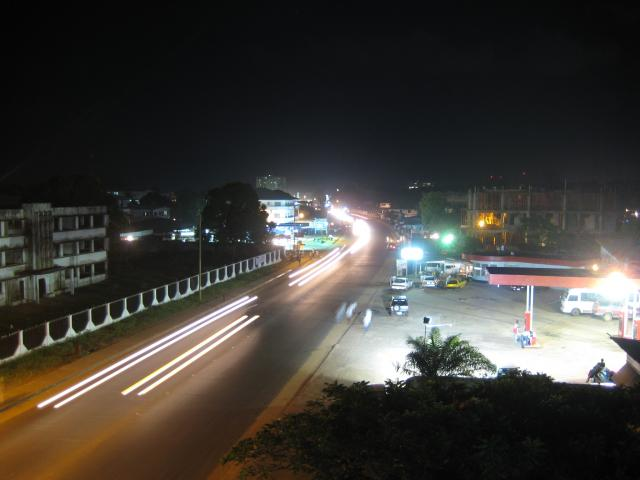World Travel Photos :: Liberia - Monrovia :: Night Shot @  Monrovia, Liberia West Africa