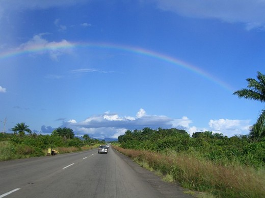 World Travel Photos :: Roads :: Rainbow On the road to the airport @ Monrovia,Liberia