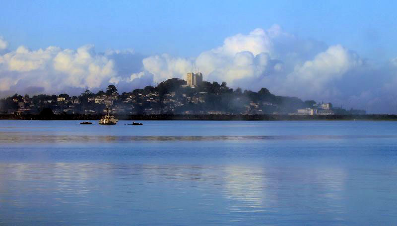 World Travel Photos :: Sea & ocean views :: Liberia. View of Monrovia from out sea