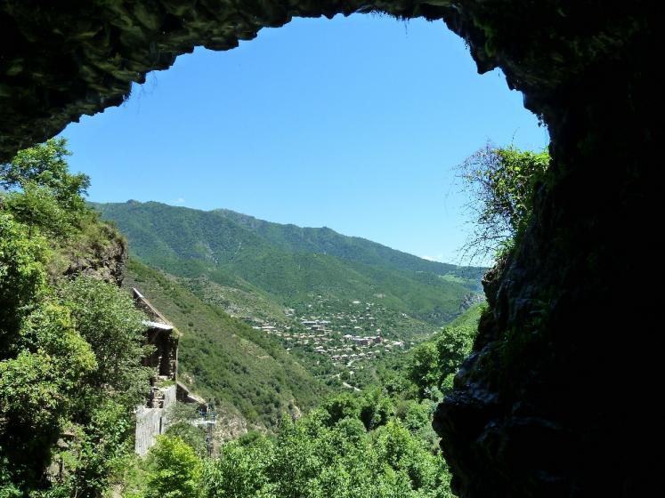 World Travel Photos :: Armenia :: View from a cave in the mountains near Kobayr monastery, Armenia
