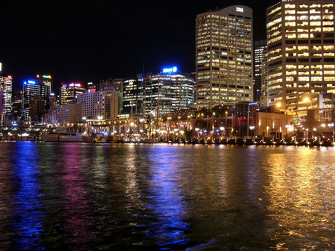World Travel Photos :: Night views :: Sydney. Darling Harbour