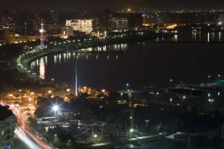 World Travel Photos :: Azerbaijan :: Azerbaijan. Baku at night