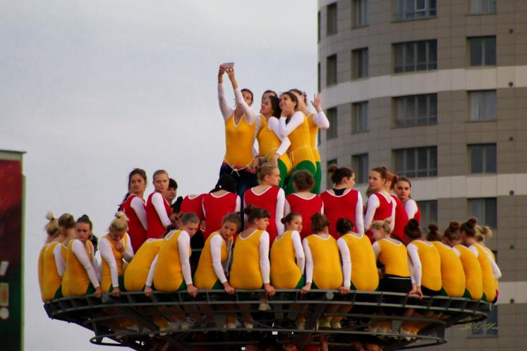 World Travel Photos :: Belarus - Minsk :: Minsk, Belarus - a rehearsal for the Independence Day performance