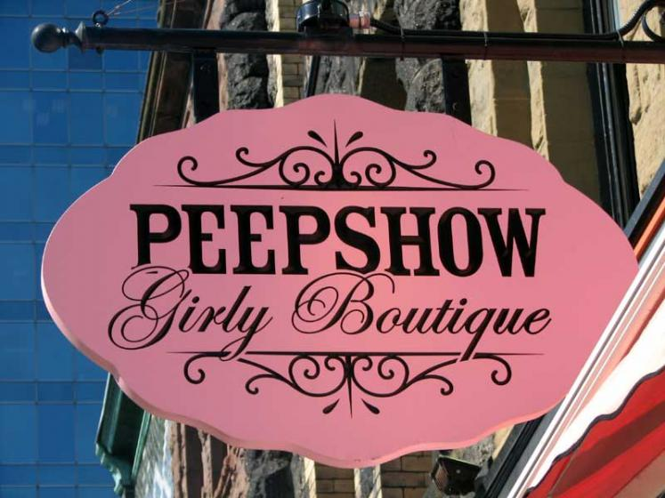 World Travel Photos :: Canada - Nova Scotia - Halifax :: Halifax. Peepshow sign