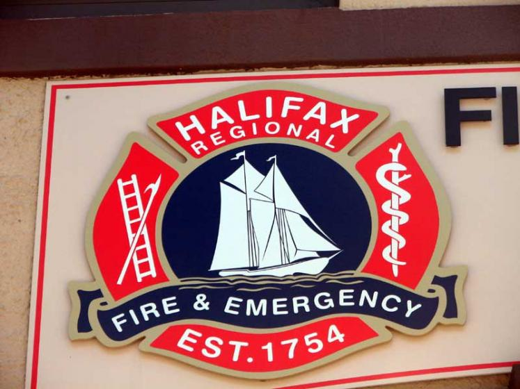 World Travel Photos :: Canada - Nova Scotia - Halifax :: Halifax. Regional Fire & Emergency sign