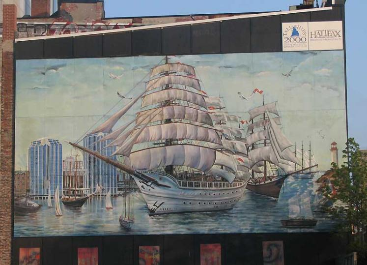 World Travel Photos :: Canada - Nova Scotia - Halifax :: Halifax - painted building