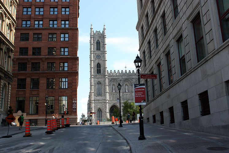 World Travel Photos :: Canada - Quebec - Montreal :: Montreal. A view on Notre-Dame Basilica