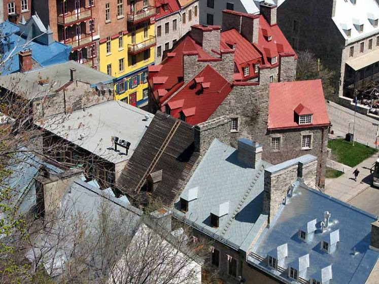 World Travel Photos :: Canada - Quebec - Quebec City :: Quebec City. View on old port district from above