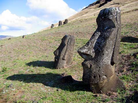 World Travel Photos :: Chile - Easter Island :: Easter Island. Moai