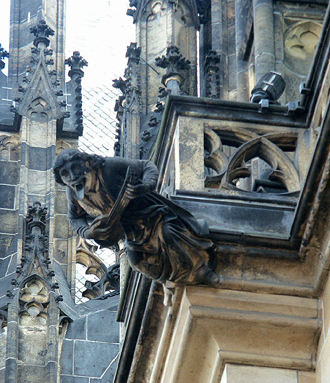 World Travel Photos :: The most famous buildings  :: Prague. A fragment of St. Vitus Cathedral