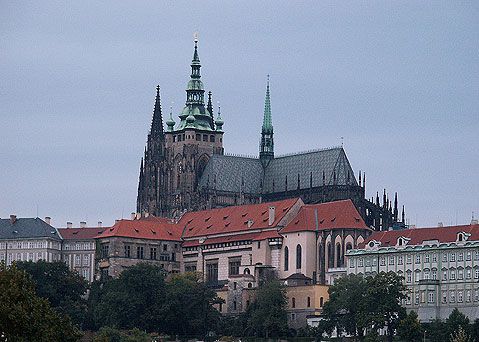 World Travel Photos :: The most famous buildings  :: Prague. View on St. Vitus Cathedral
