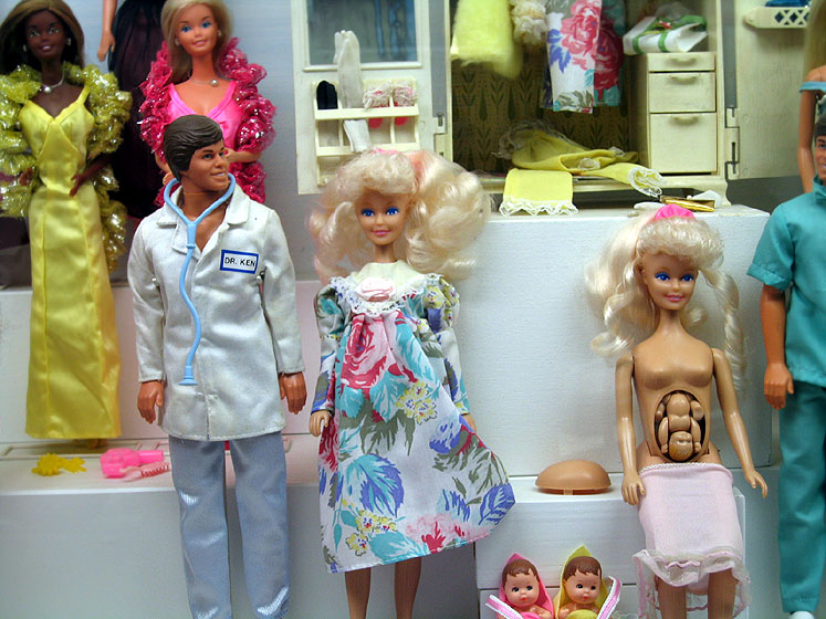 World Travel Photos :: Toy Museum :: Prague. Toy Museum - pregnant Barbies