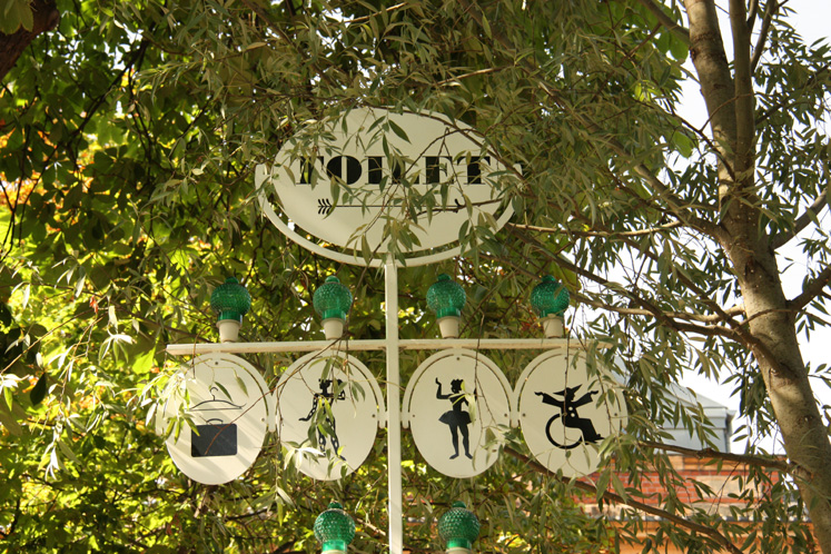 World Travel Photos :: Shop-Signs :: Copenhagen. Tivoli Gardens - washroom signs