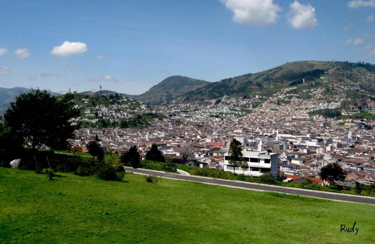 World Travel Photos :: Rudy Chaim :: A view of the central part of Quito the capital city of Ecuador
