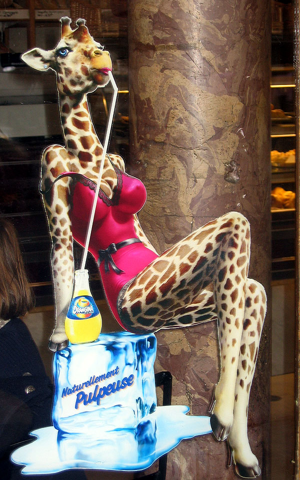 World Travel Photos :: France - Paris :: Paris. Sexy giraffe