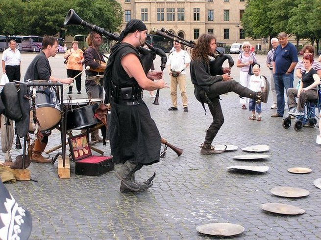 World Travel Photos :: Germany - Erfurt :: Germany. Erfurt. Street entertainment