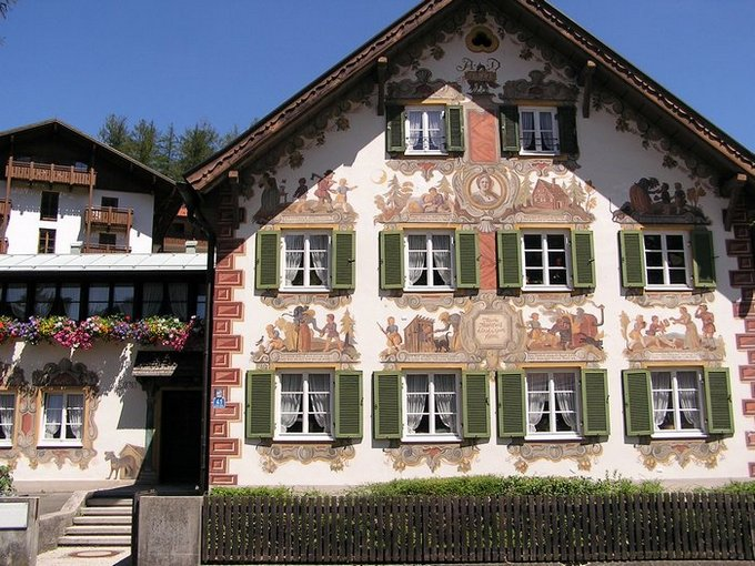 World Travel Photos :: Interesting unusual buildings :: Germany. Oberammergau.