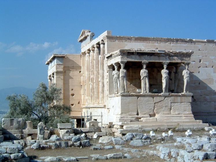 World Travel Photos :: UNESCO World Heritage Sites :: Athens. Acropolis - Caryatid Porch of the Erechtheion