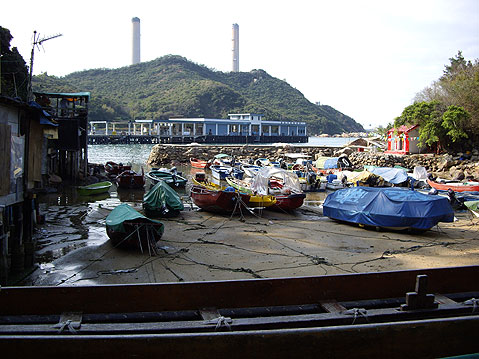 World Travel Photos :: China - Hong Kong - Lamma Island :: Hong Kong. Lamma Island - covered fishing boats
