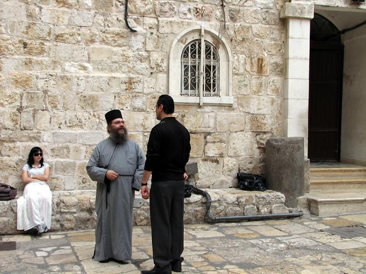 World Travel Photos :: Israel - Jerusalem :: Jerusalem.  In front of the Church of the Holy Sepulchre