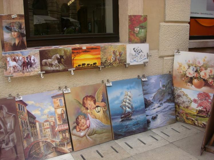 World Travel Photos :: Italy - Misc :: Verona - art on the street