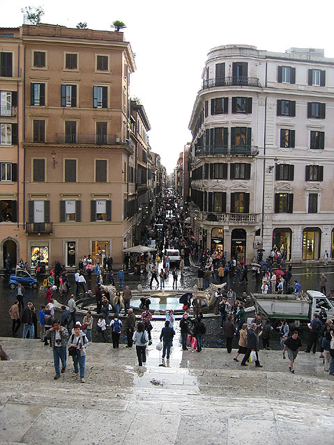 World Travel Photos :: Italy - Rome :: Rome. Spanish Steps after the rain