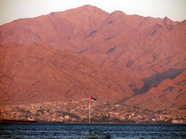 World Travel Photos :: Jordan - Misc :: Aqaba - Jordanian national flag