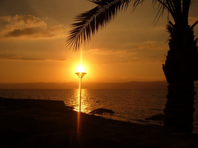 World Travel Photos :: Jordan - Misc :: Sunset over The Dead Sea-Jordan