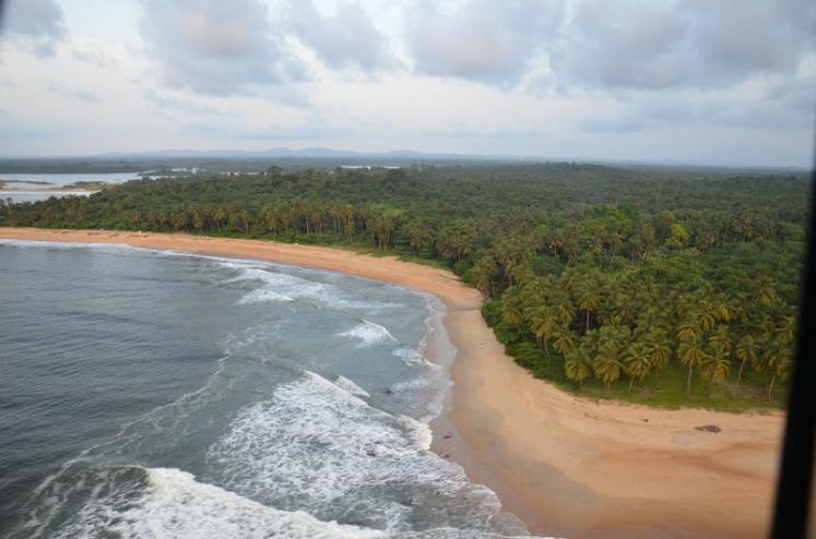 World Travel Photos :: Aerial views :: Coastline Liberia,Africa