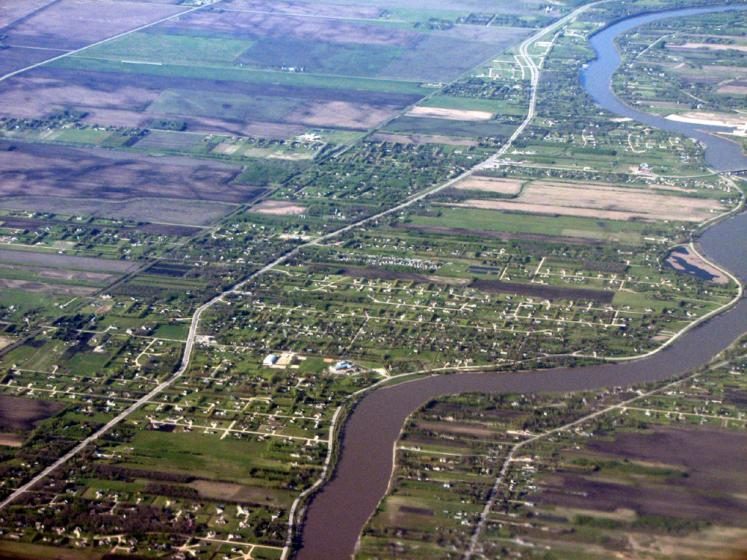 World Travel Photos :: Canada - Manitoba - Winnipeg :: Winnipeg - view from the airplane