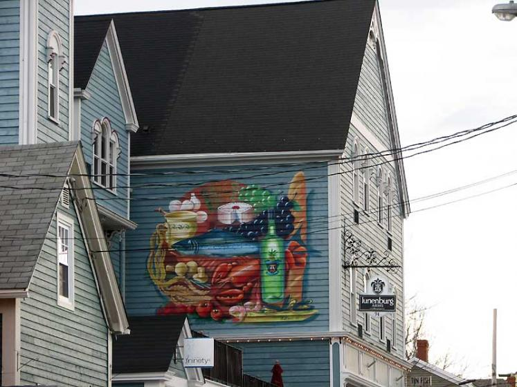 World Travel Photos :: Canada - Nova Scotia - Lunenburg :: Lunenburg. Painted building