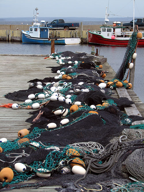 World Travel Photos :: Sea & ocean views :: Nova Scotia. Fishing Gear