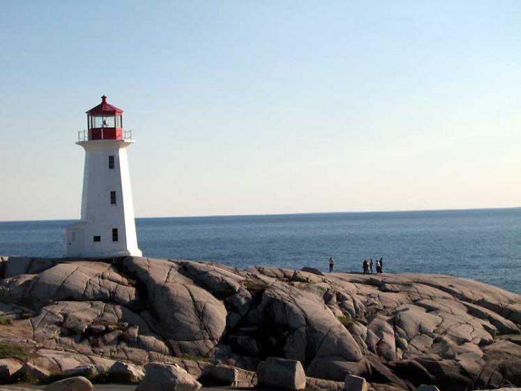 World Travel Photos :: Canada - Nova Scotia - Peggy´s Cove :: Peggy´s Cove - lighthouse on the rocks
