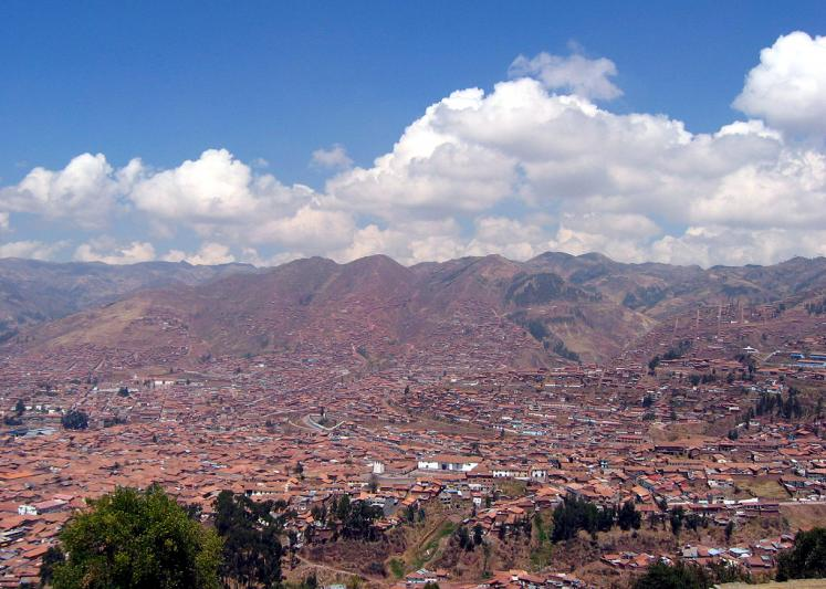 World Travel Photos :: Peru - Cusco :: Peru. Cusco - a panoramic view - UNESCO World Heritage Site