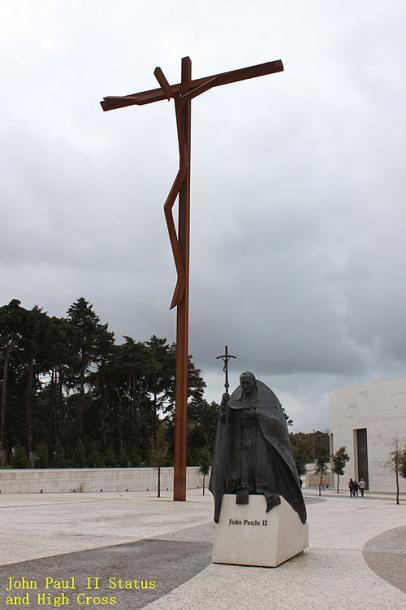 World Travel Photos :: Portugal - Fatima :: Portugal. Fatima - a monument in honor of the pope John Paul II