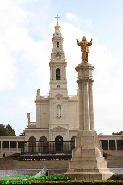 World Travel Photos :: Portugal - Fatima :: Portugal. Sanctuary of Our Lady of Fátima and a monument