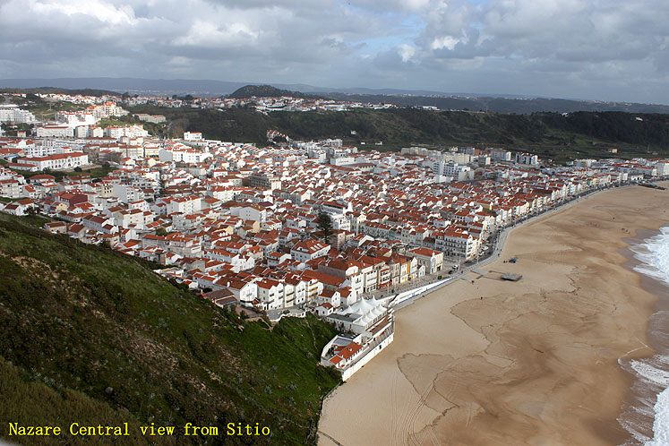 World Travel Photos :: Panoramic views :: Portugal. Nazare - a view from Sitio