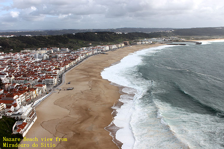 World Travel Photos :: Panoramic views :: Portugal. Nazare beach from Miradouro do Sitio