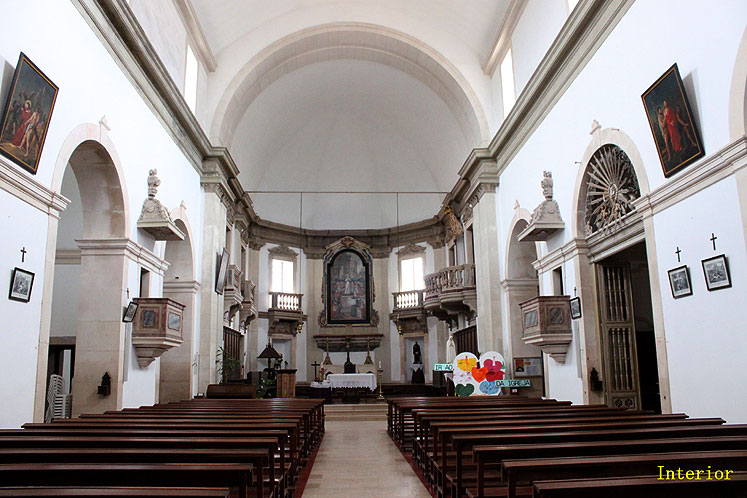 World Travel Photos :: Portugal - Ourem :: Portugal. Interior of chapel in the Ourem Castle