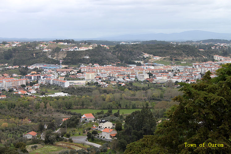 World Travel Photos :: Portugal - Ourem :: Portugal. Ouorem - a view from above