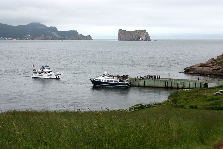 World Travel Photos :: Canada - Quebec - Bonaventure Island :: Quebec. A view on Percé Rock from Bonaventure Island