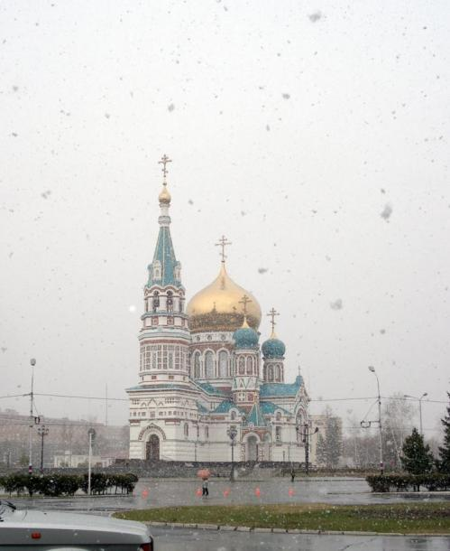 World Travel Photos :: Winter  :: Russia. Omsk District - the first snow