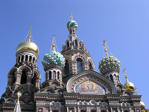 World Travel Photos :: Russia - St. Petersburg :: St. Petersburg. Domes of the The Church of the Savior on Spilled Blood