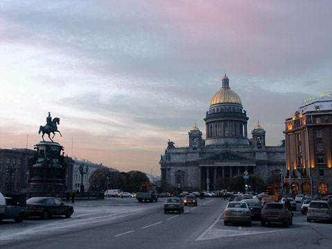 World Travel Photos :: Russia - St. Petersburg :: St. Petersburg. View on Saint Isaac´s Cathedral and St Isaac´s Square