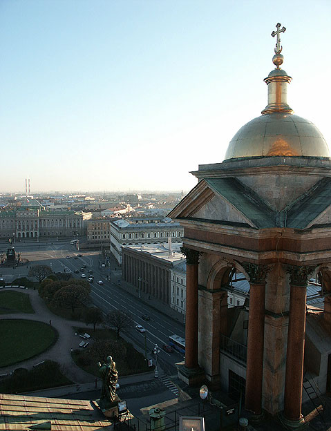 World Travel Photos :: Panoramic views :: St. Petersburg. View on Saint Isaac´s Square from the Top of Saint Isaac´s Cathedral