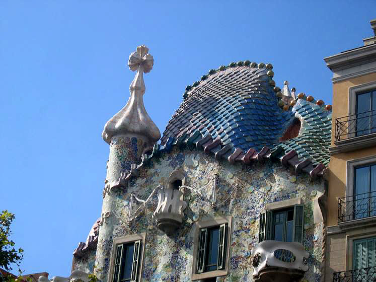 World Travel Photos :: Interesting unusual buildings :: AN interesting house in Barcelona