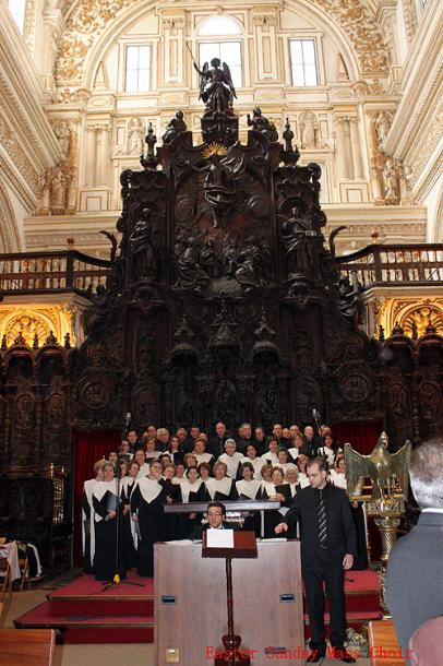 World Travel Photos :: Spain - Cordoba :: Cordoba.  Mosque of Córdoba - Easter Sunday Mass Choir