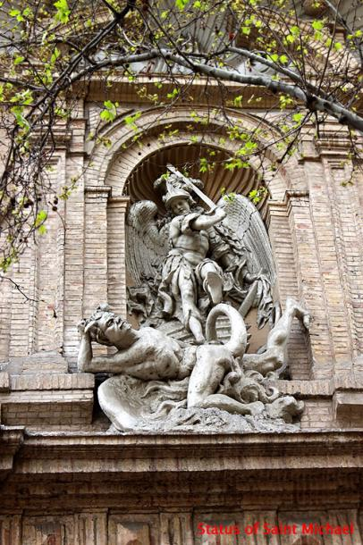World Travel Photos :: Spain - Zaragoza :: Spain. Zaragoza - a statue of St. Michael