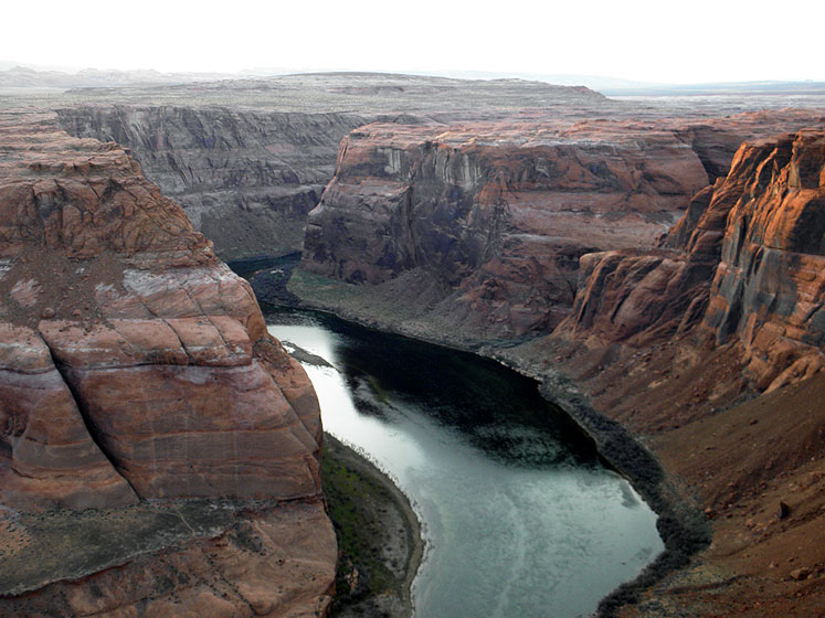World Travel Photos :: USA - Arizona - Horseshoe Bend :: Arizona. Horseshoe Bend - a partial view